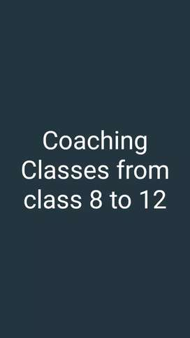 Coaching classes available for students class 8 to 12