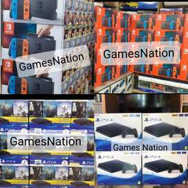 ALL TYPES OF GAMING CONSOLES AVAILABLE WITH 1 YEAR WARRANTY