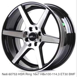 velg racing model:NE6 60753 HSR R16X7 H8X100-114,3 ET30 BMF