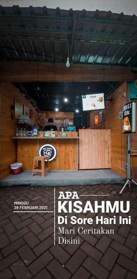 JUAL GEROBAK/BOOTH MURAH!! , COFFE SHOP, TOAST, PENYETAN (FREE ONGKIR)