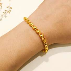 Gelang Emas Asli model love susun