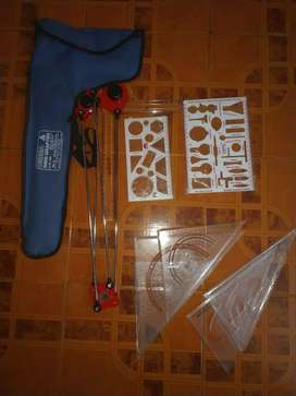 Mini Drafter, Engineering Drawing Equipment, Container with sheets