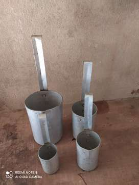 Litre weighing vessels