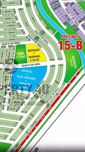 Bahria town Karachi pricent 15B 60ft road plot demand 2200000