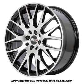 VELG NIFTY HSR RING 17 WARNA BMF DOUBLE PCD8X100-114,3
