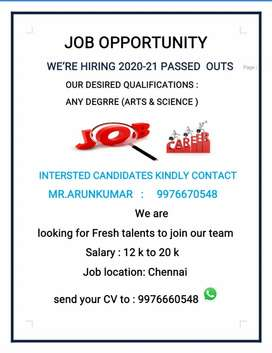New openings for Chennai job seekers