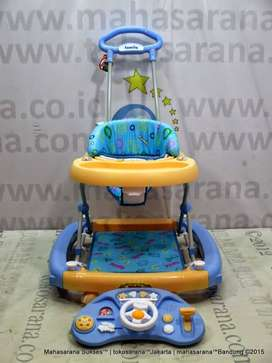 Family FB2121LD Car Melody Rocker Baby Walker Blue