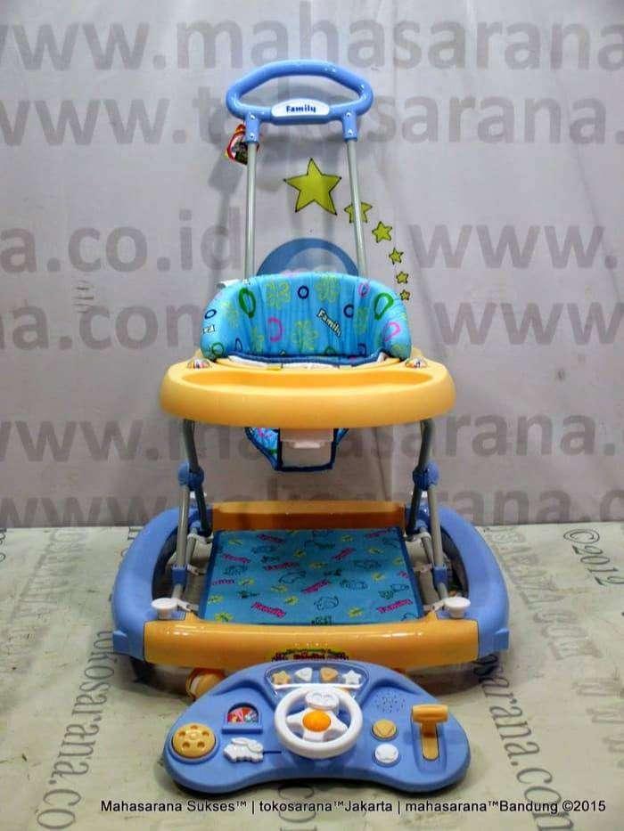 Family FB2121LD Car Melody Rocker Baby Walker Blue 0
