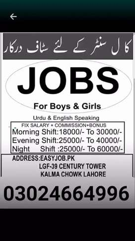English call center staff required in Lahore