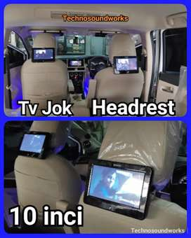 10 in headrest tv jok mobil isi 2 pcs monitor saja for paket sound