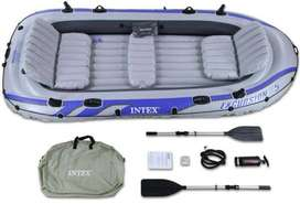 Intex Excursion 5, 5-Person Inflatable Boat Set with Aluminum Oars and