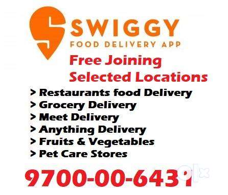 Earn Weakly 7000 Food Delivery Swiggy Spot Joining Free Joining 0