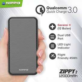 PowerBank Hippo Zippy 2 12000 mAh Quick Charge 3.0