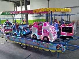 variatif mainan anak kereta mini panggung odong komedi putar pink 11