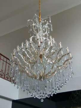 Lampu kristal jepit 50 cabang