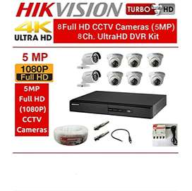 Hikvision 5MP HD 8 Camera Package