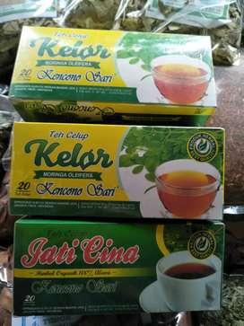 Teah herbal celup daun kelor alami