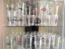 Grosir Gelas Thai Tea Sablon/Printing (GELAS CUP PLASTIK PP)12oz 8grm