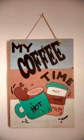 Hiasan dinding coffe time