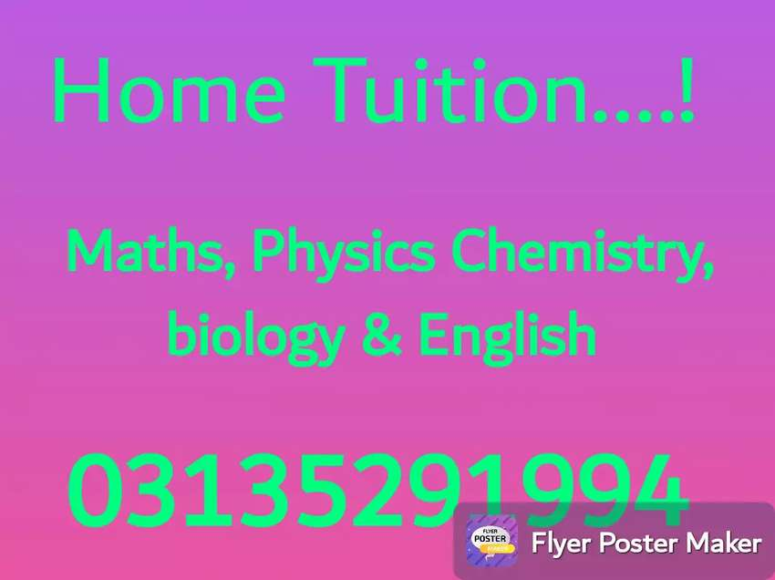 Get a competent Tutor from Pakistan's Top ranked Universities 0