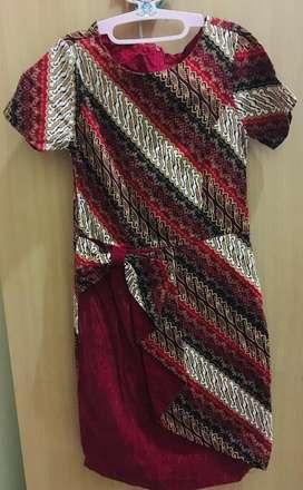 Batik dress remaja