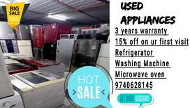 Add-2187 We are dealers in used Appliances fridge and washing machine