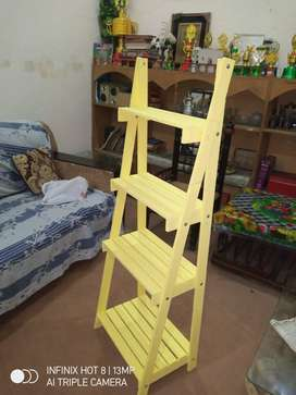 wooden ladder planter \ plant stand