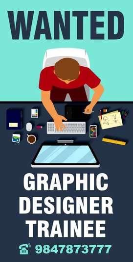 Wanted Graphic Designer Trainee cum office assistant