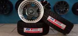 Paket velg+ban semislick GT Champiro SX2 R16 cocok untuk Livina Yaris