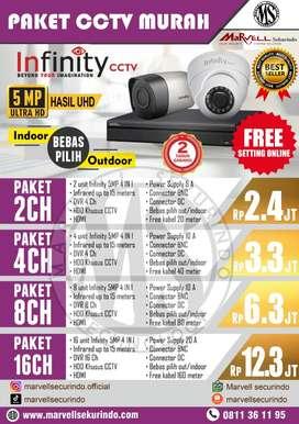 CCTV MURAH 8 CH MERK INFINITY 5 MP ULTRA H