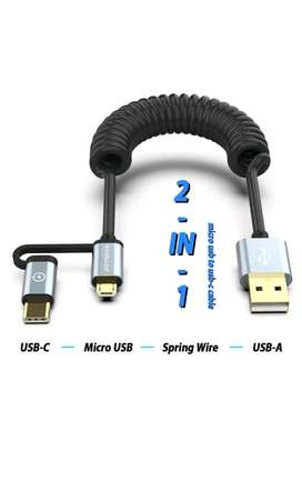 JOYSEUS kabel charger data 2 in 1 micro usb & type c fast charging cab
