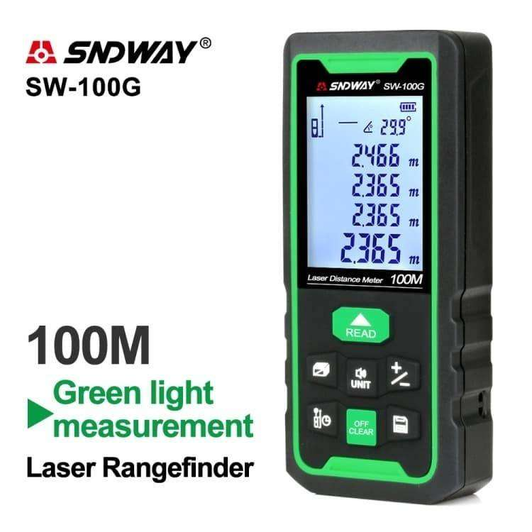 SNDWAY Green Laser Distance SW-100G Laser Hijau 100 Meter