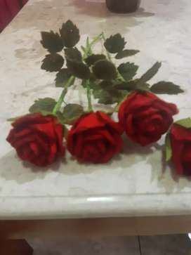 Bunga mawar flanel