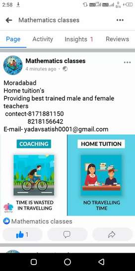 Home tuition's at moradabad