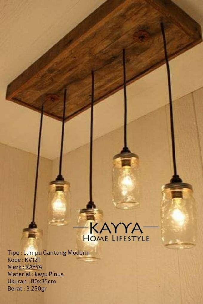 Lampu Gantung Klasik / Lampu Gantung Kayu Modern Klasik KV121