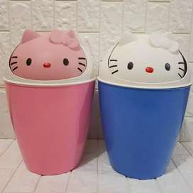 Bak sampah plastik hello kitty