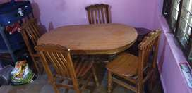Dining table with proper wood and nice condition