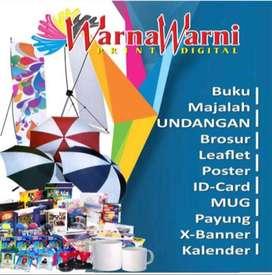 Percetakan, majalah, buku, banner, kartu nama, mug, nota, souvenir