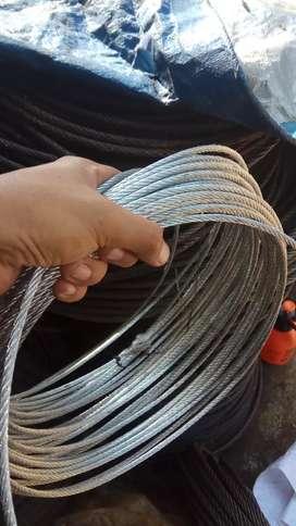 Kawat seling galvanis 6mm wire rope sling takel katrol chain block