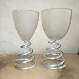 Metal and glass vase, Home delivery is also available call me