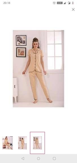Brand new Night wear, pyjama set, cotton, polka dots, trendy