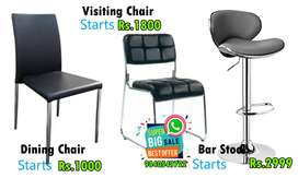 Visiting / Dining / Bar /Plastic Chairs and Stools Mega Sale Visitors
