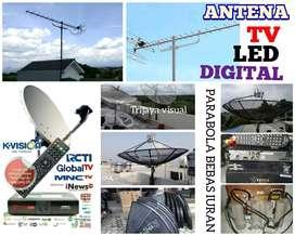 teknisi instalasi pasang parabola dan antena TV digital