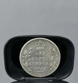 One Rupee Coin India 1907 | 100 Years Old | Coin Collection