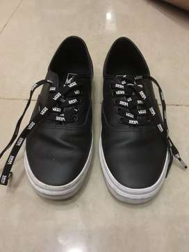 vans Authentic (OTW Webbing) Black/Leath