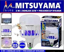 Lampu led + Perangkap Nyamuk Terang 25 Watt Mitsuyama MS-9225