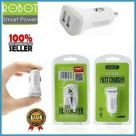 SAVER ROBOT RT-C06 2 USB / CHARGER MOTOR MOBIL RTC06 MOBILE CHARGER