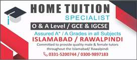 Experienced Male home tutor required in Askari-14