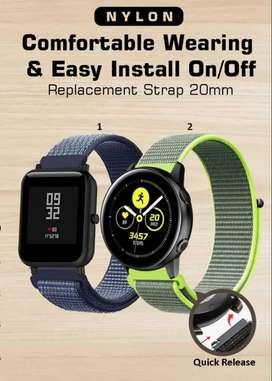 Strap Amazfit GTS GTR 42mm Bip Galaxy Watch Active 2 42mm - 20mm Nylon