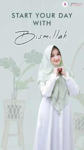 Alesha khimar,jilbab syari